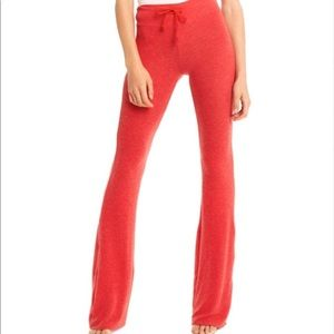 Wildfox Red Flare Sweat Pants XS Worn Look